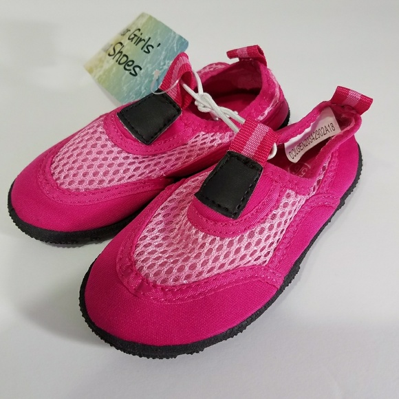 2557884390ee Toddler Girls Pink Aqua Water Beach shoes